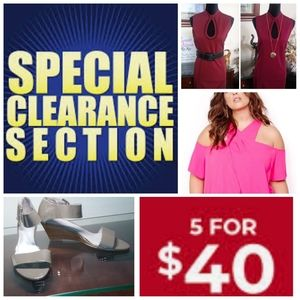 💥CLEARANCE SECTION💥       5 for $40